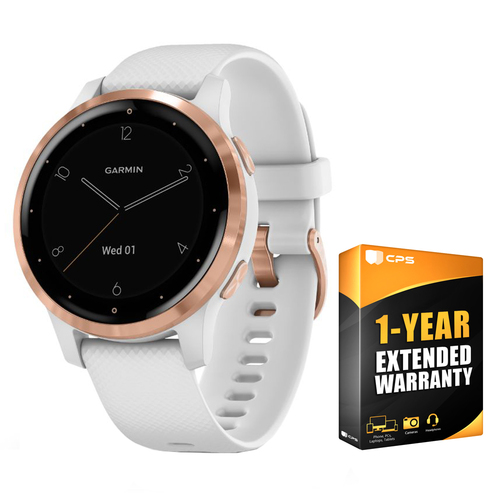 Garmin Vivoactive 4S Smartwatch White/Rose Gold with 1 Year Extended Warranty