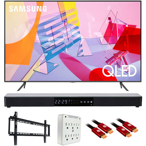 Samsung QN50Q60TA 50` Q60T QLED 4K UHD Smart TV (2020) with Deco Gear Soundbar Bundle