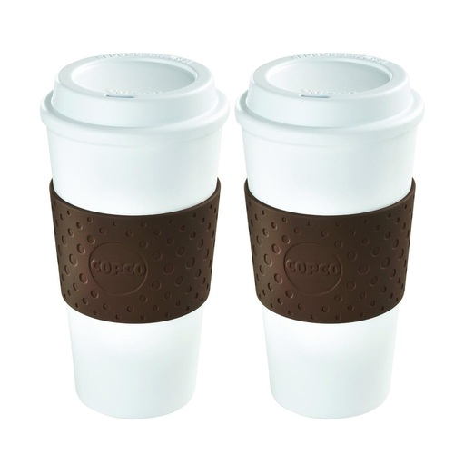 16 Ounce Eco-First Acadia Mug White/Brown - 2 Pack
