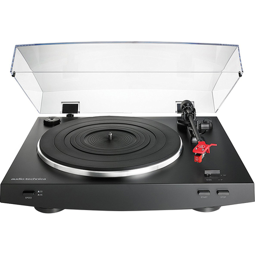 Audio-Technica AT-LP3BK Fully Automatic Belt-Drive Stereo Turntable, Black - Open Box