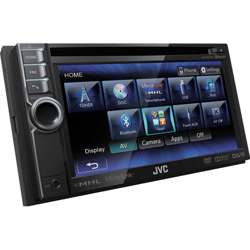 JVC Bluetooth Enabled In-Dash Double DIN Audio Video Reciever Touch - OPEN BOX