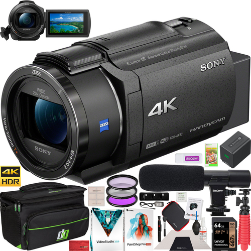 Sony FDR-AX43 4K UHD Handycam Camcorder Kit AX43 Video Recording Camera Pro Bundle