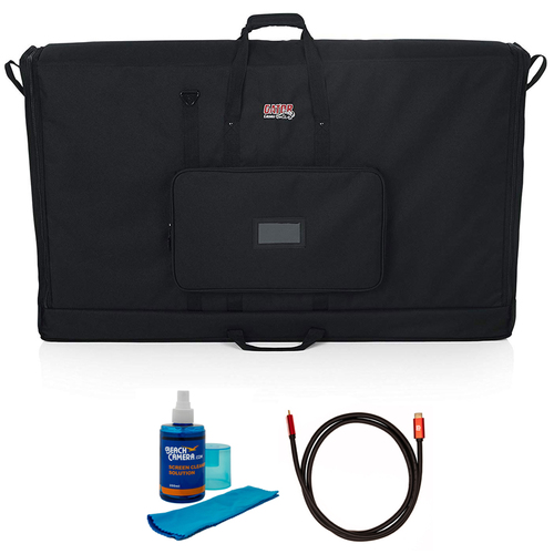 Gator Padded Nylon Carry Tote Bag for Transporting LCD 60` + Cleaner and Cable