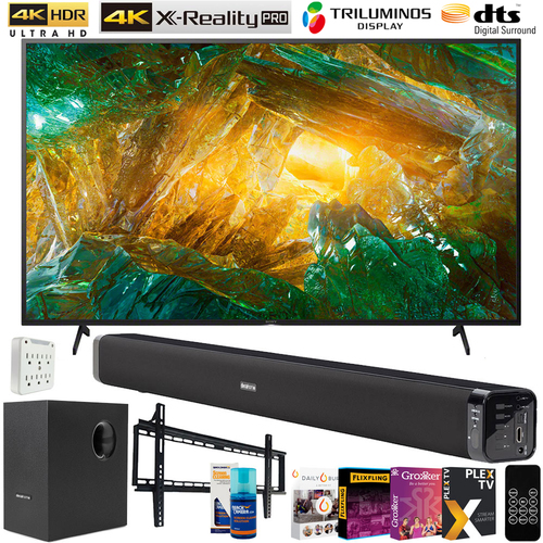 Sony 49-inch X800H 4K Ultra HD LED Smart TV (2020 Model) w/ 60W Sound Bar Bundle