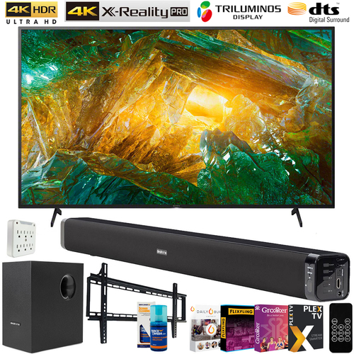 Sony 55-inch X800H 4K Ultra HD LED Smart TV (2020 Model) w/ 60W Sound Bar Bundle