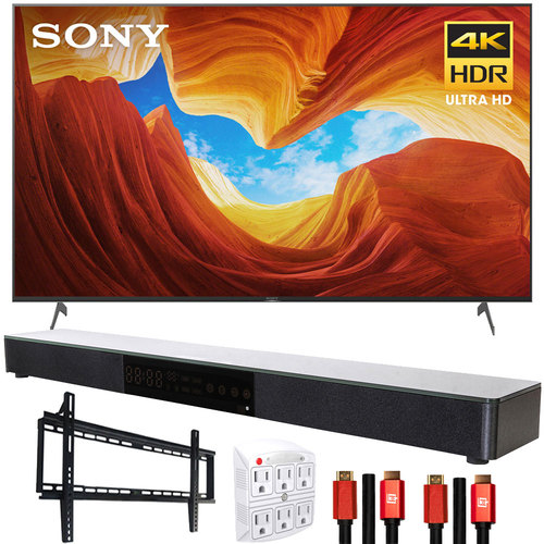 Sony XBR85X900H 85` X900H 4K Ultra HD LED TV (2020) with Deco Gear Soundbar Bundle