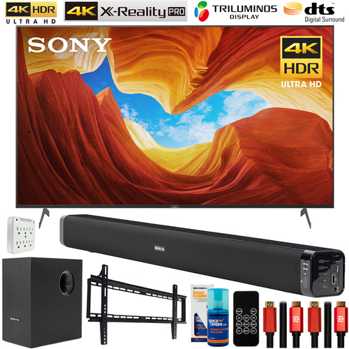 Sony 75-inch X900H 4K UHD Full Array LED Smart TV (2020) w/ 60W Sound Bar Bundle