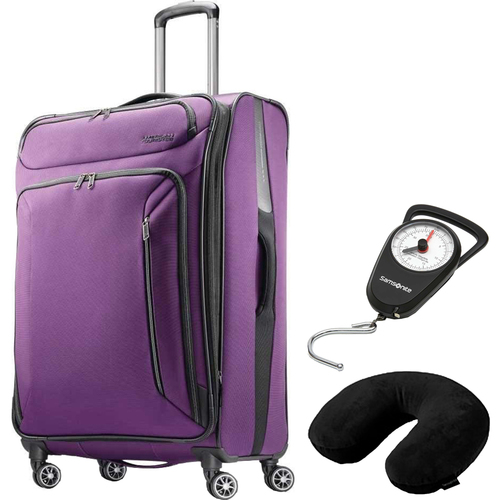 American Tourister 28` Zoom Spinner Expandable Suitcase Luggage w/ Accessories Kit