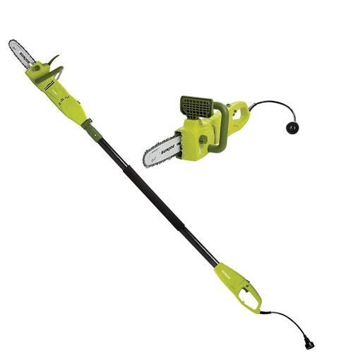 Sun Joe SWJ806E 8-Inch 8.0 Amp 2-in-1 Convertible Pole Chain Saw (Green) - Renewed