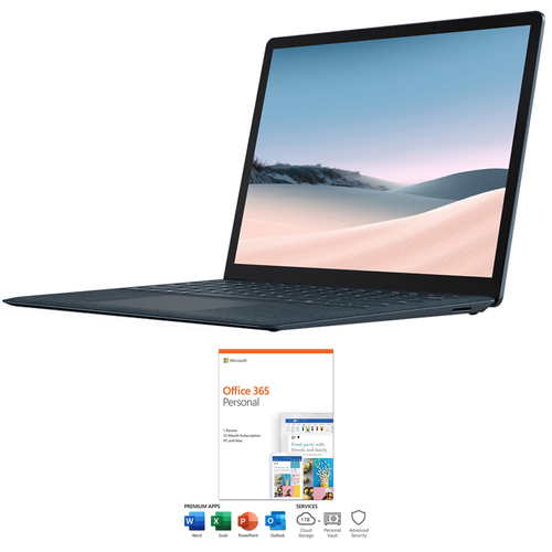Microsoft Surface Laptop 3 13.5` Intel i7-1065G7 16/256GB Cobalt Blue+Office 365