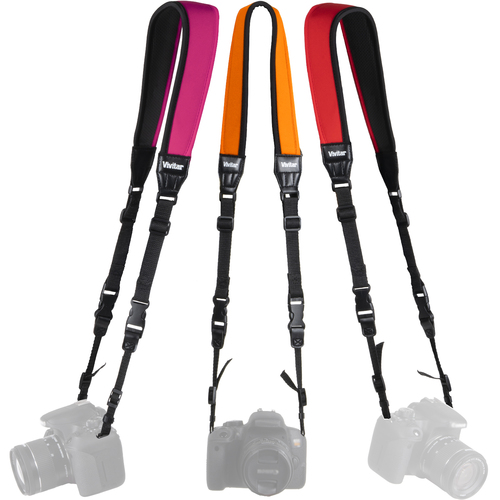 Vivitar 3- Pack Universal Neoprene Neck Strap for all Cameras, Camcorders and Binoculars
