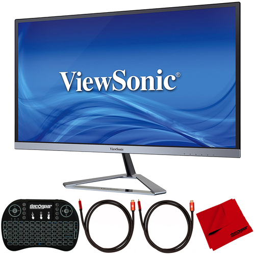 ViewSonic VX2776-SMHD 27` Full HD Ultra Slim IPS Monitor with Accessories Bundle