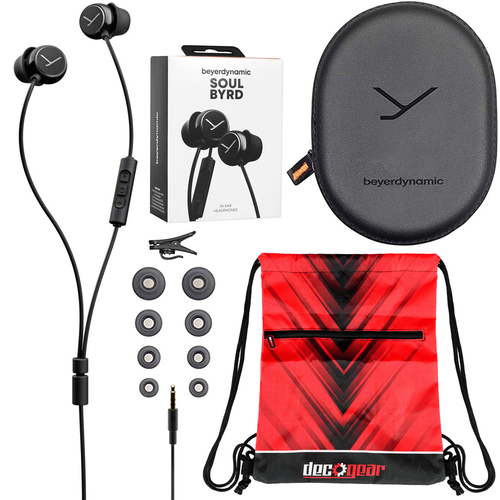 BeyerDynamic Soul BYRD Earbud Headphones iOS Android Headset w/ Remote & Mic Travel Bag Kit