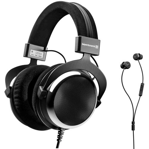 BeyerDynamic DT 880 Premium Special Edition Chrome 250 ohm w/ Wired In-Ear Headset