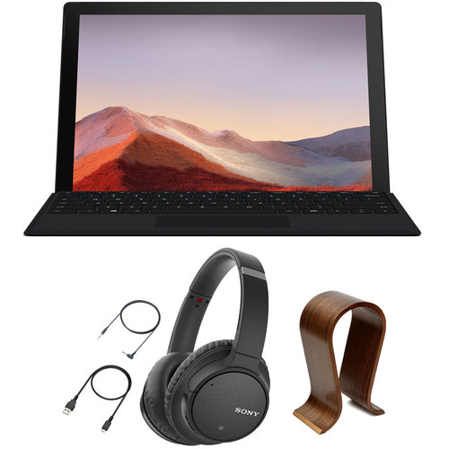 Microsoft QWV-00007 Surface Pro 7 12.3` Intel i5 with Sony WH-CH700N Headphones Bundle