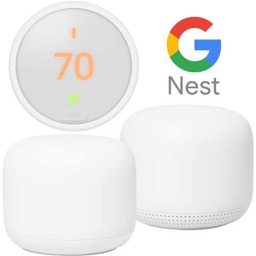 Google Nest Wifi Router Dual Band Mesh System + Access Point + Learning Thermostat