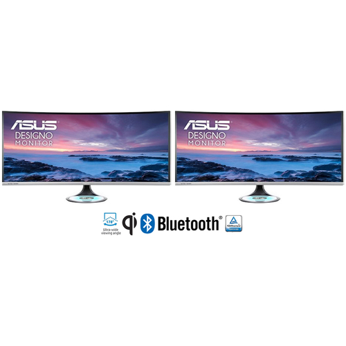 ASUS - DISPLAY MX38VC Designo Curve 37.5` UWQHD Frameless Curved Monitor (2-Pack)