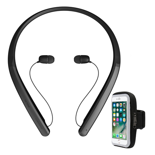 LG TONE Flex XL7 Bluetooth Wireless Stereo Headset Black with Armband Holder