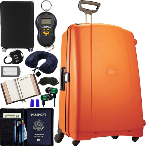 Samsonite F'Lite GT 31` Spinner Suitcase Orange + 10pc Luggage Accessory Kit