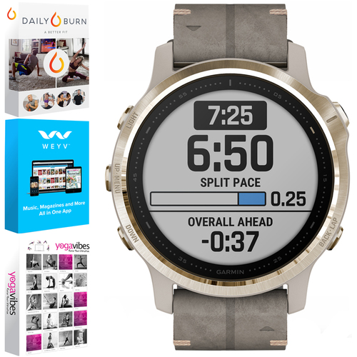 Garmin Fenix 6S Sapphire Multisport GPS Smartwatch +Fitness & Wellness Suite