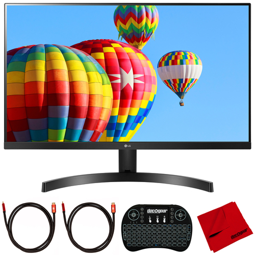 LG 27` Full HD IPS 3-Side Borderless Radeon FreeSync Monitor + Keyboard Bundle