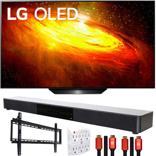 LG OLED65BXPUA 65` BX 4K OLED TV AI ThinQ (2020) with Deco Gear Soundbar Bundle