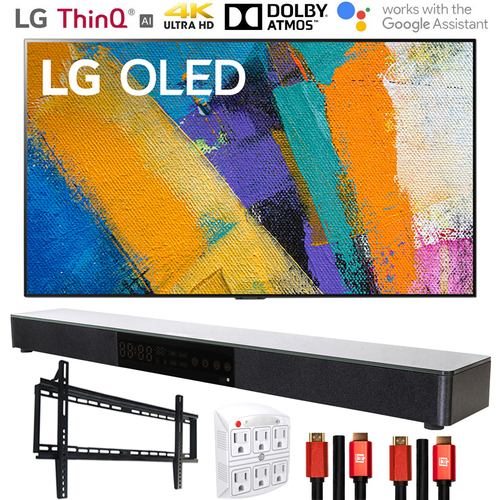 LG OLED65GXPUA 65` GX 4K Smart OLED TV (2020l) with Deco Gear Home Theater Bundle