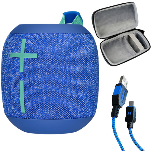 Ultimate Ears WONDERBOOM 2 Portable Bluetooth Speaker (Blue) with Deco Gear Case Bundle