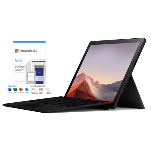 Microsoft Surface Pro 7 12.3` Touch Intel i5-1035G4 8GB/256GB Black + 365 Family