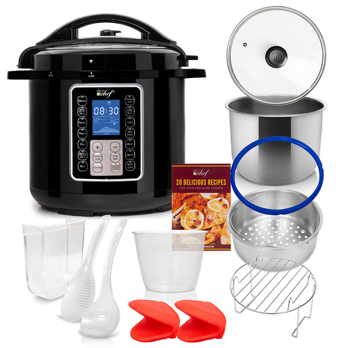 6 QT 10-in-1 Pressure and Slow Cooker -  Multi-Mode Cooking with Accessories