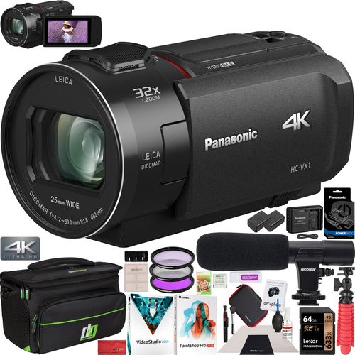 Panasonic HC-VX1K Camcorder 4K Ultra HD Wi-Fi VX1K Video Recording Camera Pro Bundle