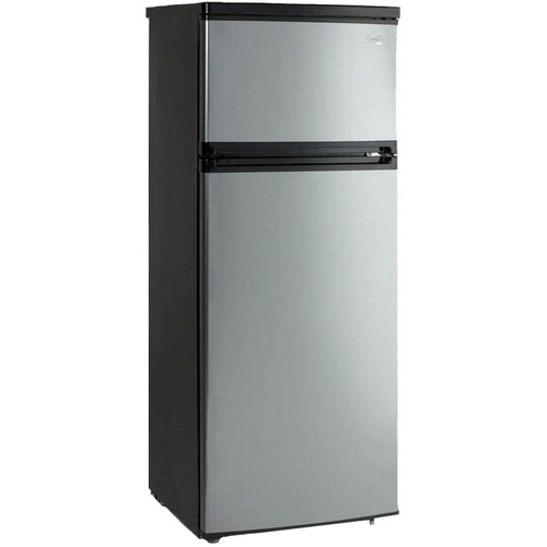 Avanti 7.4 CF Two Door Apartment Size Refrigerator - Black w Platinum Finish RA7316PST