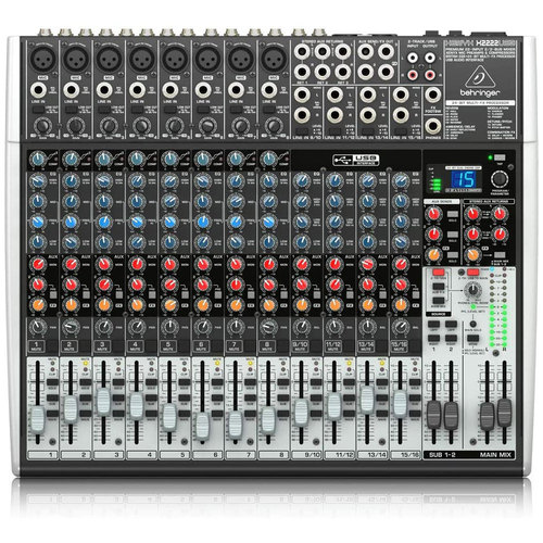 Behringer X2222USB Premium 22-Input 2/2-Bus Mixer Audio Interface with XENYX Mic Preamps