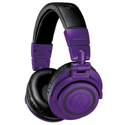 ATH-M50xBT Wireless Bluetooth Over-Ear Headphones (Purple/Black Limited Edition)