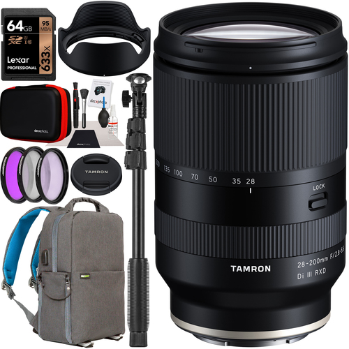 Tamron 28-200mm F/2.8-5.6 Di III RXD Lens A071 for Sony Full Frame Mirrorless Bundle