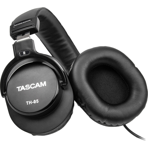Tascam TH-05 Monitoring Headphones (Black) - TH05 - Open Box