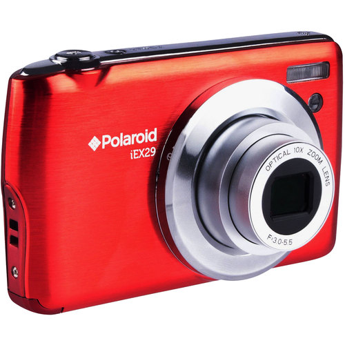 Vivitar iEX29 18MP 10x Optical Zoom Digital Camera with HD Movie Recording (Red)