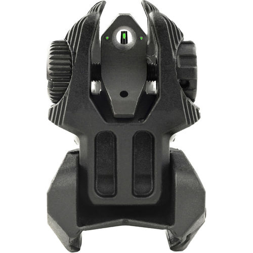 Meprolight LTD Flip Up Front and Rear Back Up Sight Set with 2 Tritium Dots (Black)
