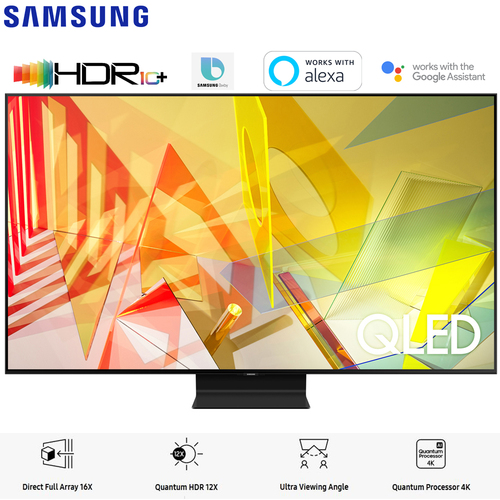 Samsung QN55Q90TA 55` Q90T QLED 4K UHD HDR Smart TV (2020 Model) - (Renewed)