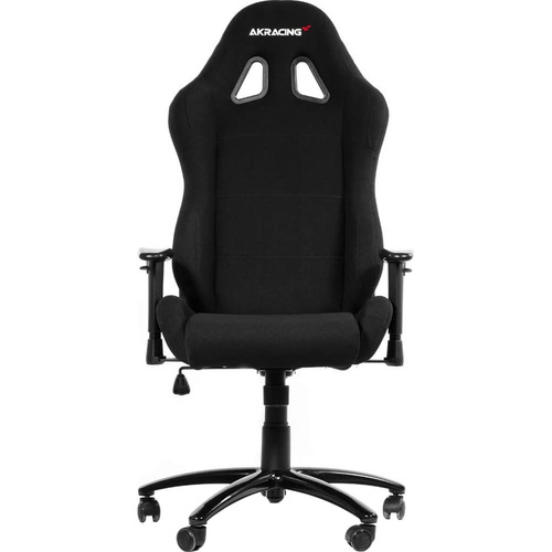 AKRACING AMERICA ERGONOMIC GAMING CHAIR BLACK ADJ ARMS&HEIGHT RECLINE FABRIC