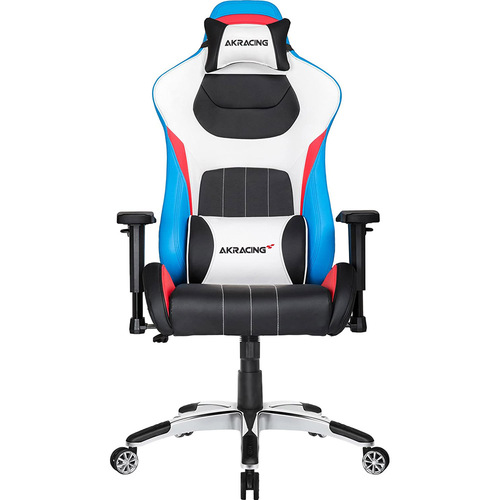 AKRACING AMERICA ERGONOMIC GAMING CHAIR 3 COLOR ADJ ARMS&HEIGHT RECLINE PLEATHER