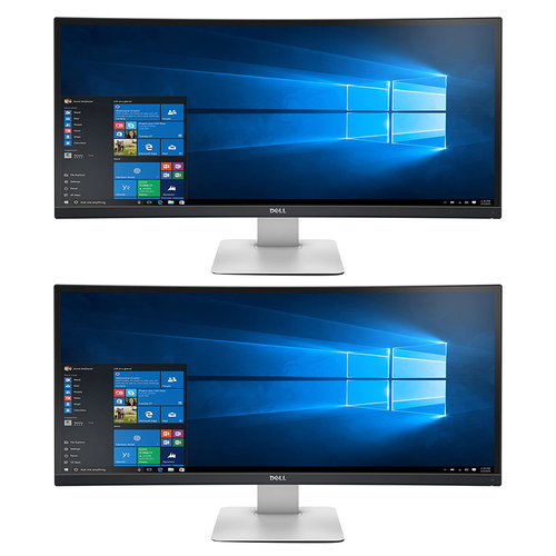 Dell UltraSharp 34` QHD 21:9 5ms Curved Ultrawide Monitor 2 Pack
