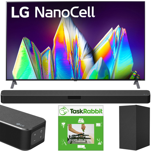 LG 65` 8K HDR Smart LED NanoCell TV AI ThinQ (2020) + LG SN5Y Sound Bar Bundle