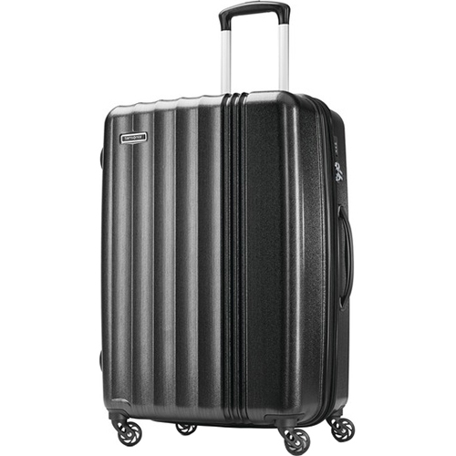 Samsonite Cerene Hardside Luggage  25` Checked Medium with Spinner Wheels, Black