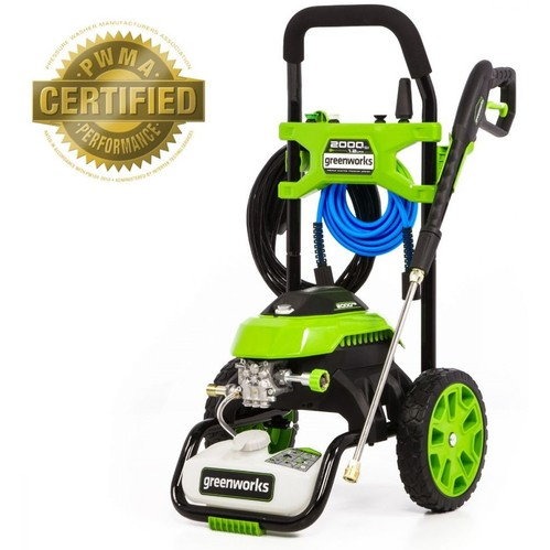 Greenworks GPW2006 2000 PSI 1.2 GPM Cold Water Electric Pressure Washer Factory Refurbished