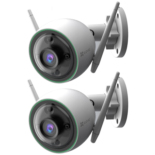 EZVIZ C3N 1080p Outdoor Wi-Fi Bullet Camera w/ Night Vision & Built-In AI 2 Pack