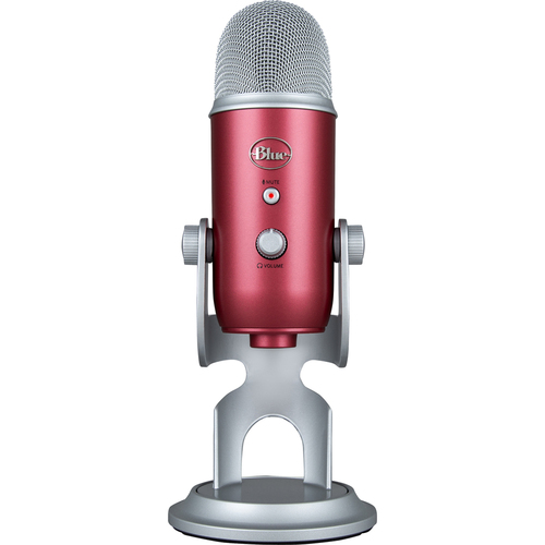 BLUE MICROPHONES Yeti USB Microphone - Steel Red - Open Box