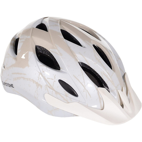 White/Beige Unisex Adult Commuter Biking Helmet 64758