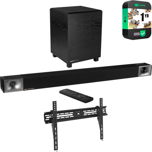 Klipsch Cinema 400 NA Bundle w/ Wall Mount Bracket & Extended Warranty