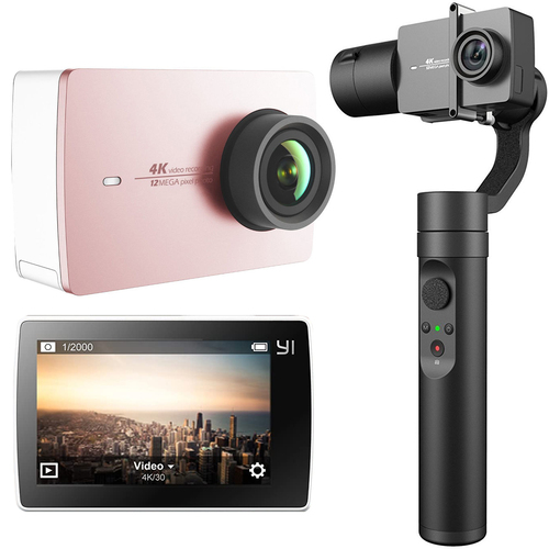 YI 4K Action Camera 3-Axis w/Gimbal Stabilizer Content Creator Deals